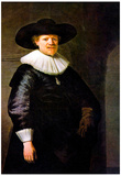 Rembrandt Portrait of the Poet Jan Hermansz Krul Art Print Poster Prints