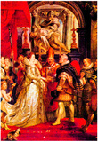 Peter Paul Rubens Medici Marriage in Florence Art Print Poster Posters