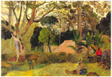 Paul Gauguin Te Raai Rahi Art Print Poster Poster