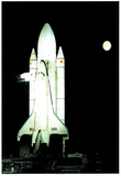 NASA Space Shuttle Astronaut Rocket Art Print POSTER Plakát