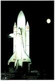 NASA Space Shuttle Astronaut Rocket Art Print POSTER - Poster