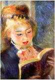 Pierre Auguste Renoir A Reading Girl 2 Art Print Poster Posters