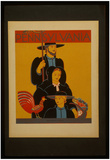 Pennsylvania (Amish Family, Vintage Ad) Art Poster Print Print