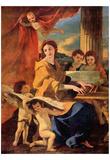Nicolas Poussin (St. Cecilia) Art Poster Print Zdjęcie