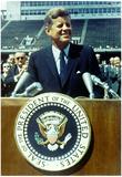 President John F Kennedy Speech Color Archival Photo Poster Plakat