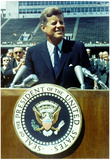 President John F Kennedy Speech Color Archival Photo Poster Poster
