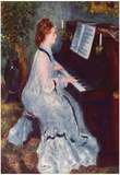 Pierre-Auguste Renoir (Woman at the piano) Art Poster Print Prints