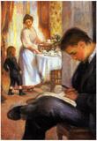 Pierre Auguste Renoir Breakfast at Berneval Art Print Poster Prints
