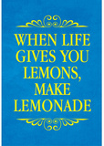 When Life Gives You Lemons Make Lemonade Art Poster Print Masterprint