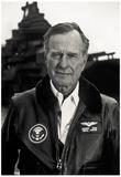 President George HW Bush Naval Aviator Archival Photo Poster Print Poster