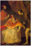 Titian Pope Paul III and Nephews Art Print Poster Prints