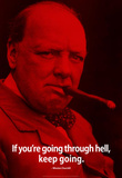 Winston Churchill Keep Going iNspire Quote Poster Masterprint