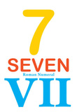 Number 7 Sign with Roman Numeral Banner Poster Masterprint