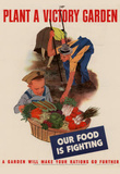 Plant a Victory Garden Our Food is Fighting WWII War Propaganda Art Print Poster Masterprint
