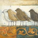 Birds on Damask I Prints by Patricia Quintero-Pinto