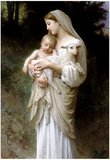 William-Adolphe Bouguereau Linnocence Art Print Poster Prints