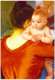 Pierre-Auguste Renoir Mother and Child Art Print Poster Posters
