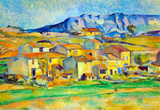 Paul Cezanne Montaigne Sainte-Victoire, from the Environment Beu Gardanne of View Art Print Poster Masterprint