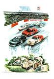 Nascar Dreams (Soapbox Derby) Art Print Poster Posters