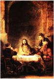 Rembrandt Christ in Emmanus Art Print Poster Poster