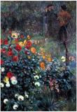 Pierre Auguste Renoir Garden in the Street Cortot Montmartre Art Print Poster Posters