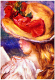 Pierre-Auguste Renoir Girl Reading 2 Art Print Poster Poster