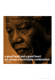 Nelson Mandela Quote iNspire 2 Motivational Poster Photographie