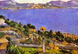 Paul Cezanne L'Estaque Vue du Golfe de Marseille 1878 Art Print Poster Masterprint