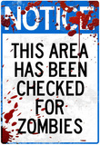 Notice This Area Checked for Zombies Art Poster Print Masterprint