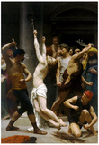 William-Adolphe Bouguereau The Flagellation of Our Lord Jesus Christ Art Print Poster Prints