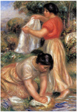 Pierre Auguste Renoir Laundresses 2 Art Print Poster Posters