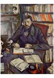 Paul Cezanne (Portrait of Gustave Geffroy) Art Poster Print Print