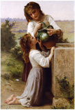 William-Adolphe Bouguereau At The Fountain Art Print Poster Print