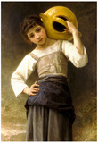 William-Adolphe Bouguereau Young Girl Going to the Spring Art Print Poster Poster