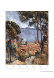 Paul Cezanne View Of Estaque Art Print POSTER OCEAN Prints