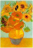 Vincent Van Gogh Still Life Vase with Twelve Sunflowers 2 Art Print Poster Posters
