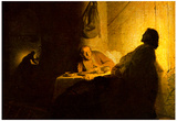 Rembrandt Christus in Emmaus 2 Art Print Poster Poster