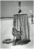 Swimsuit Model Under Tent Archival Photo Poster Print Poster
