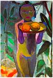 Paula Modersohn-Becker Child with Goldfish Glass Art Print Poster Prints