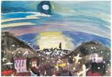 Walter Gramatte Barcelona at Night 1st Version Art Print Poster Posters