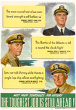 The Toughest Job is Still Ahead WWII War Propaganda Art Print Poster Posters