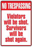 No Tresspassing Sign Art Print Poster Masterprint