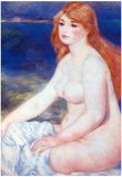 Pierre Auguste Renoir The Blond Bather 2 Art Print Poster Posters