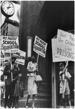 School Segregation Protest (Protesters with Signs) Art Poster Print Print