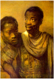 Rembrandt Two Young Africans Art Print Poster Posters