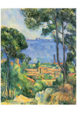 Paul Cezanne (View of L'Estaque and Chateaux d'If (The Sea at L'Estaque)) Art Poster Print Prints