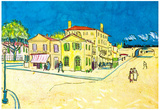 Vincent Van Gogh Study on Vincent's House in Arles Art Print Poster Posters