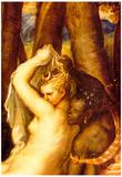 Titian Diana and Aktaon Detail Art Print Poster Prints