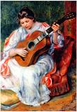 Pierre Auguste Renoir Guitarist Art Print Poster Print
