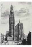 Wenceslas Hollar (Antwerp, Cathedral of Notre-Dame) Art Poster Print Print